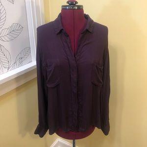 Bella Dahl |  Purple Button-Up
